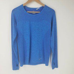 Nike Dri-Fit Knit Long Sleeve Top Shirt Thumbholes